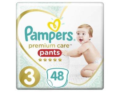 Pampers Premium Care Pants No.3 (6-11kg) Πάνες Βρακάκι, 48τμχ