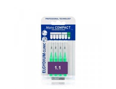 Elgydium Clinic Mono Compact Green 1.1 Συσκευασία με 4 τεμάχια