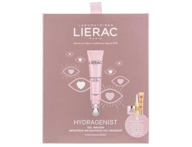 Lierac Set Hydragenist Gel Yeux Hydra-lissant 15ml + Hydragenist Gel-Cream 10ml + Cica-Filler serum 10ml + Sunissime fluide SPF30 10ml