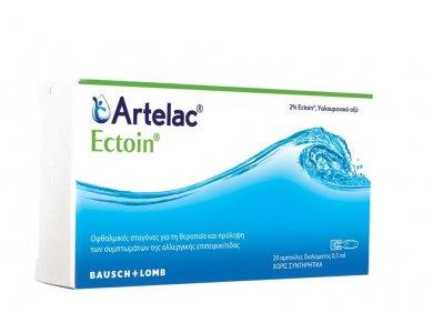 Bausch & Lomb Artelac Ectoin, Οφθαλμικές Σταγόνες για τη θεραπεία της Αλλεργικής Επιπεφυκίτιδας, 20 x 0.5ml
