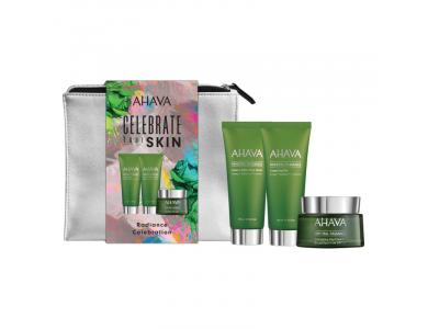 Ahava Set Celebrate Your Skin, Mineral Radiance Energizing Day Cream SPF 15, 50ml & Instant Detox Mud Mask, 100ml & Cleansing Gel, 100ml