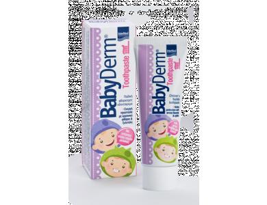 InterMed Babyderm Toothpaste 1000ppm Φθορίου, Παιδική Οδοντόκρεμα με Γεύση Τσιχλόφουσκα, 50ml