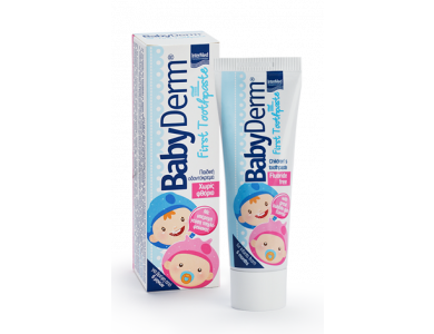 InterMed Babyderm First Toothpaste, Οδοντόκρεμα για τη Φροντίδα των πρώτων Βρεφικών Δοντιών, 50ml