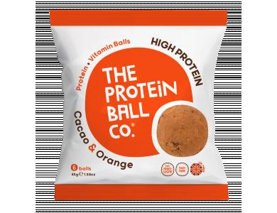 The Protein Ball Co. High Protein Cacao & Orange Μπαλίτσες Πρωτεΐνης με Κακάο & Πορτοκάλι, 6 balls
