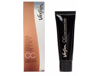Version CC Color Corrector Cream SPF30, Αντιηλιακή Κρέμα Ημέρας με Χρώμα, 50ml