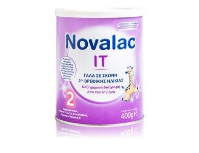 Novalac IT 2 Γάλα 2ης Βρεφικής Ηλικίας για την αντιμετώπιση της Δυσκοιλιότητας, 400gr