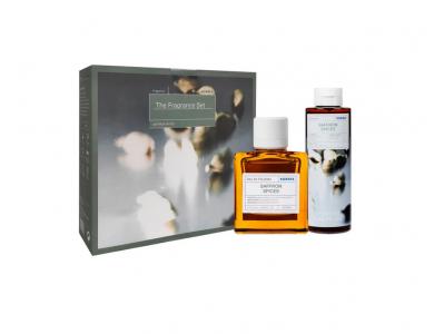 Korres The Fragrance Set , Ανδρικό Άρωμα, 50ml & Saffron Spices Αρωματικό Αφρόλουτρο Με Ενυδατικούς Παράγοντες, 250ml