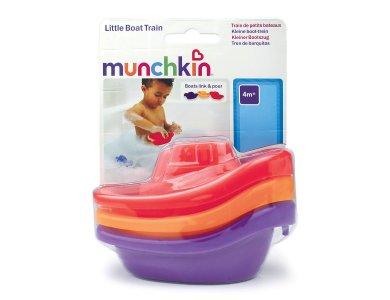 Munchkin Little Boat Train, Παιχνίδι Μπάνιου Βαρκούλες 4m+, 3τμχ
