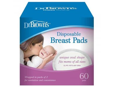 Dr. Brown's Επιθέματα Στήθους Μιας Χρήσης, 60τμχ