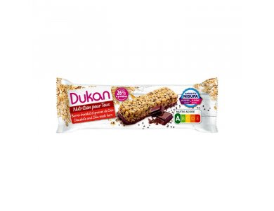 Dukan Μπάρες Βρώμης με επικάλυψη Σοκολάτας και σπόρους Chia 36gr