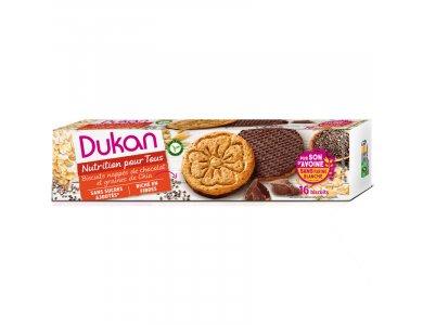 Dukan Μπισκότα Βρώμης με Επικάλυψη Σοκολάτας & Σπόρους Chia, 160gr