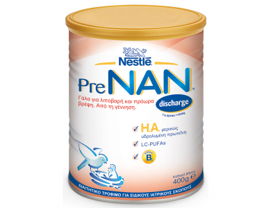 Nestle Pre Nan Discharge Γάλα για Λιποβαρή & Πρόωρα Βρέφη, 400gr