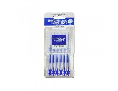 Elgydium Clinic Dental Picks Η συσκευασία περιλαμβάνει 36 Dental Picks και μία πλαστική πρακτική θήκη (x6)
