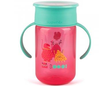 Suavinex Βοοο! Trainer Cup 340 ml, Eκπαιδευτικό κύπελο Booo! Για νήπια Χρώμα Ροζ