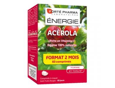 Forte Pharma Energy Acerola Συμπλήρωμα Διατροφής Βιταμίνη C με Τονωτική & Ενδυναμωτική Δράση, 60 Μασώμενα Δισκία