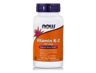 Now Vitamin K-2 100mcg,  100veg.caps