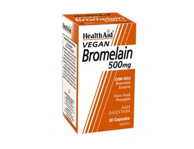 Health Aid Vegan Bromelain 500mg 1200GDU 30caps