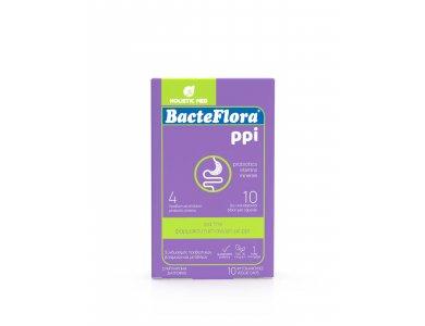 Holistic Med BacteFlora PPI Προβιοτικό για την Συμπλήρωση & Εξισορρόπηση της Μικροβιακής Χλωρίδας του Εντέρου, 10caps