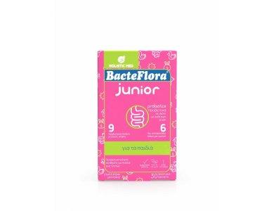 Holistic Med BacteFlora Junior Προβιοτικά σε Σκόνη με Ουδέτερη Γεύση, 30 φακελάκια