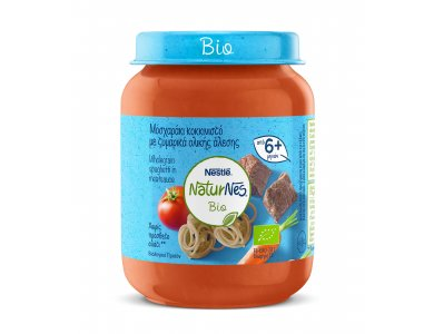 Nestle Naturnes Bio Βρεφικό γεύμα Μοσχαράκι Κοκκινιστό & Ζυμαρικά Ολικής Αλεσης 190gr