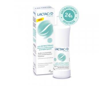 Lactacyd Pharma Antibacterials Καθαριστικό Ευαίσθητης Περιοχής με Φυσικούς Αντιβακτηριακούς Παράγοντες, 250ml