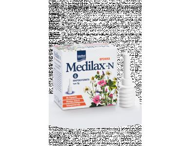 InterMed Medilax-N Βρεφικά Μικροκλύσματα με Χαμομήλι & Μολόχα, 6 x 3gr