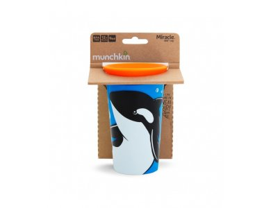 Munchkin Miracle 360° Sippy Cup 12m+ Orca, 266ml