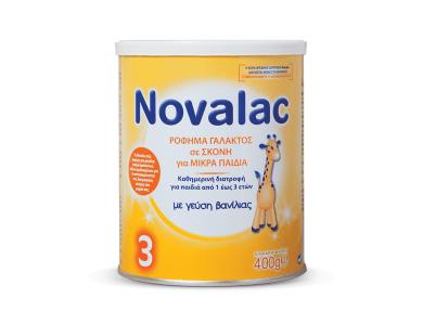 Novalac 3 Ρόφημα Γάλακτος σε Σκόνη για Παιδιά Mετά τον 1ο Χρόνο Χωρίς Ζάχαρη, 400gr