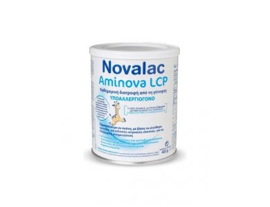 Novalac Aminova LCP Υποαλλεργιογόνο Παρασκεύασμα σε Σκόνη για βρέφη Άνω Των 6 Μηνών, 400gr