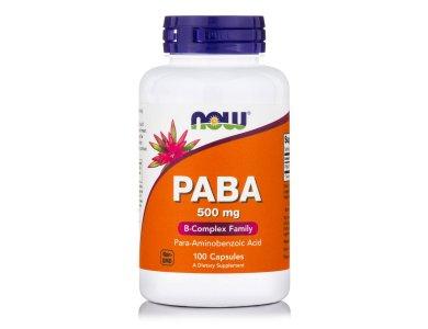 Now PABA 500mg, 100caps