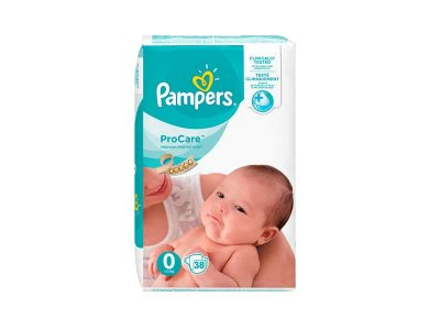 Pampers Procare Premium Protection No.0 (1-2.5 kg) Βρεφικές Πάνες, 38τμχ