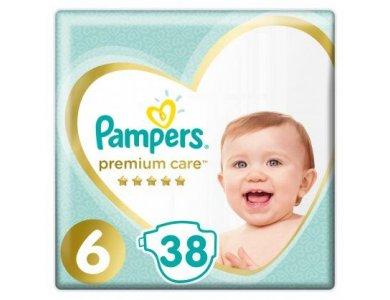 Pampers Premium Care No.6 (13+g) Βρεφικές Πάνες, 38τμχ