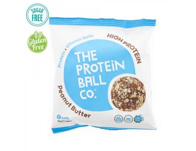 The Protein Ball Co. High Protein Peanut Butter Μπαλίτσες Πρωτεΐνης με Φυστικοβούτυρο, 6 balls