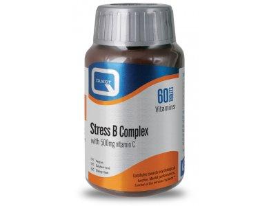 Quest Stress B Complex + 500mg C 60tabs
