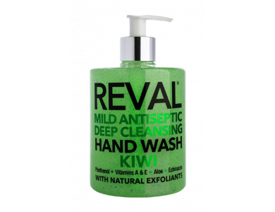 InterMed Reval Mild Antiseptic Deep Cleansing Hand Wash Kiwi, Αντισηπτικό Τζελ & Καθαρισμός Χεριών με Άρωμα Ακτινίδιο, 500ml