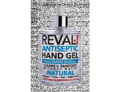 InterMed Reval Plus Natural Antiseptic Hand Gel, Αντιβακτηριδιακό Αντισηπτικό Τζελ Χεριών Χωρίς Άρωμα, 500ml