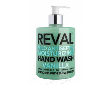 InterMed Reval Mild Antiseptic Moisturizing Hand Wash Vanilla, Αντισηπτικό Τζελ & Καθαρισμός Χεριών με Άρωμα Βανίλια, 500ml