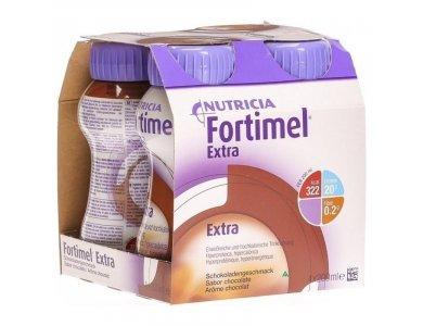 Nutricia Fortimel Extra Σοκολάτα Θρεπτικό Συμπλήρωμα Διατροφής σε Υγρή Μορφή Υψηλής Περιεκτικότητας σε Πρωτεϊνη, 4 x 200ml