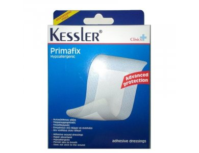 Kessler Primafix Hypoallergenic Αυτοκόλητες Γάζες 10cmx15cm, 5τμχ
