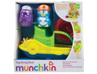 Munchkin Tug Along Boat, Παιχνίδι Μπάνιου Ρυμουλκό Καράβι, 12m+