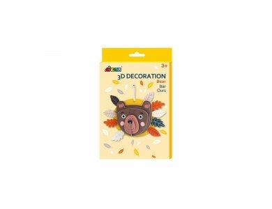 Avenir 3D Decoration, Bear, Δημιουργικό Διακοσμητικό Παιχνίδι, 1τμχ