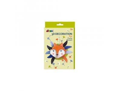 Avenir 3D Decoration, Fox, Δημιουργικό Διακοσμητικό Παιχνίδι, 1τμχ