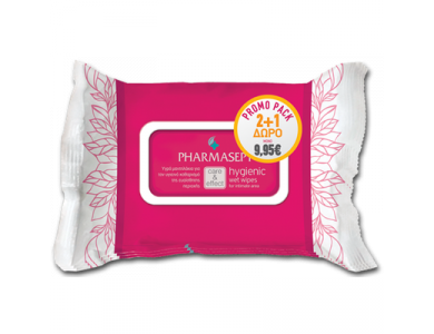 Pharmasept Hygienic Wet Wipes 30τμχ. Promo Pack 2+1