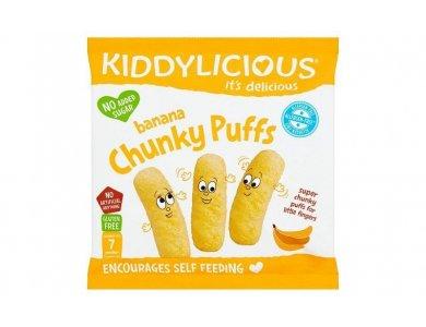 Kiddylicious Banana Chunky Puffs Γαριδάκια Μπανάνα 7m+, 12gr
