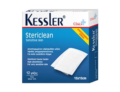 Kessler Stericlean Αποστηρωμένες Γάζες 15x15cm 12τμχ