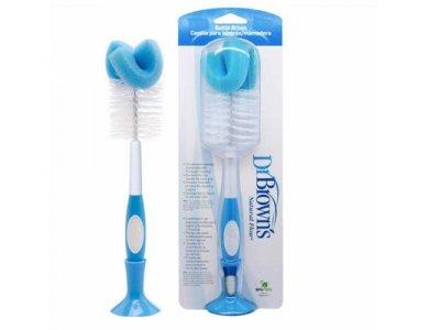 Dr. Brown's Natural Flow Bottle Brush, Βούρτσα Καθαρισμού Μπιμπερό Μπλέ, 1τμχ