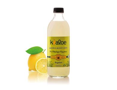 Kaloe Aloe Vera Gel Lemon, Βιολογικό Τζελ Αλόης με Γεύση Λεμόνι, 1000ml