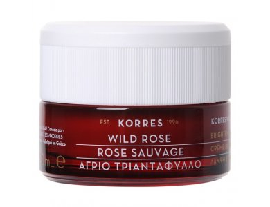 Korres Wild Rose Vitamin C, Κρέμα Προσώπου Άγριο Τριαντάφυλλο Λάμψη/ Πρώτες Ρυτίδες Ξηρές, 40ml